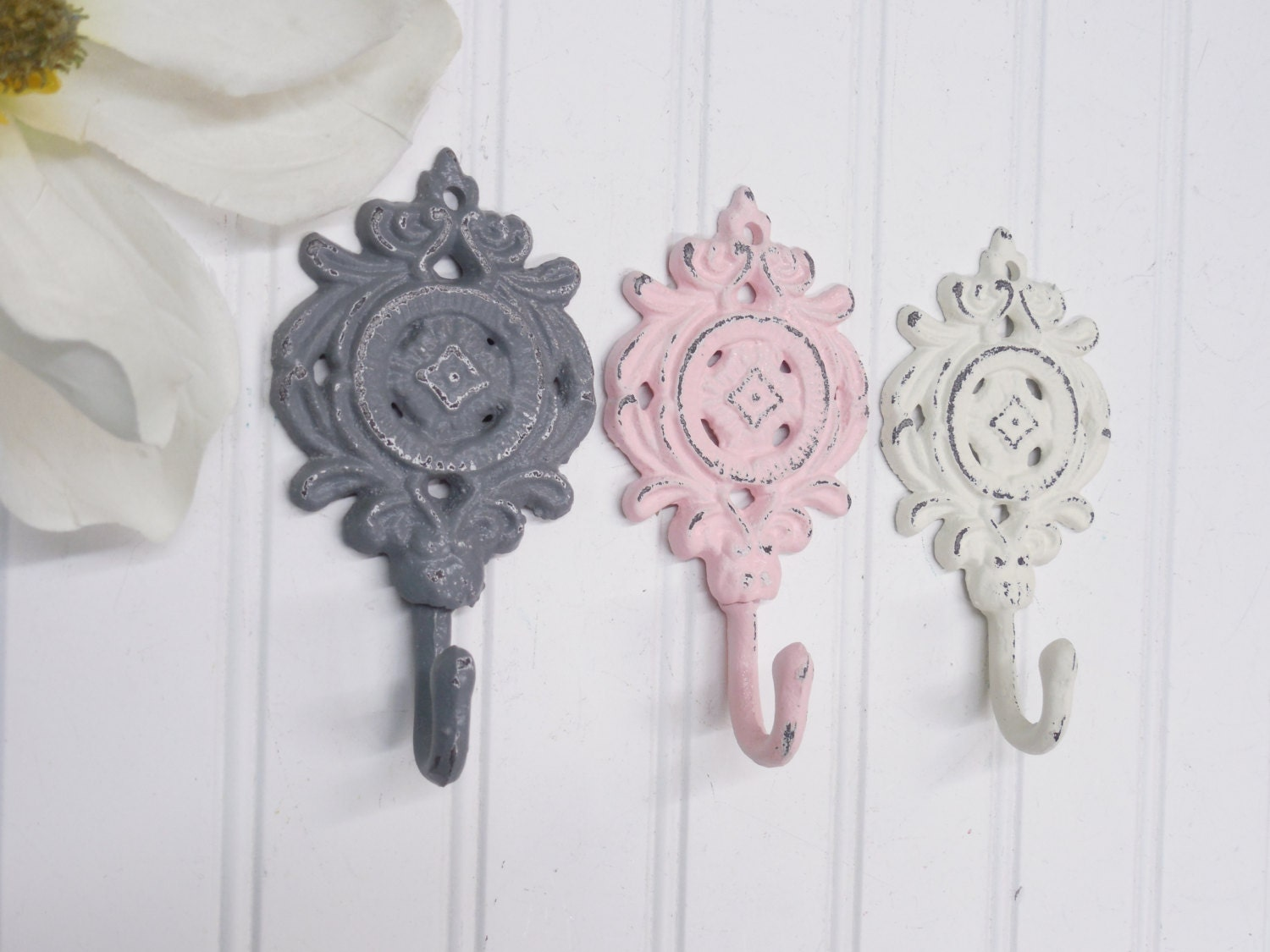 shabby chic wall hooks shabby decor french parisian nursery. Black Bedroom Furniture Sets. Home Design Ideas