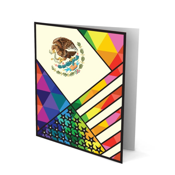 The Best of Both Worlds - Mexican American Greeting Card