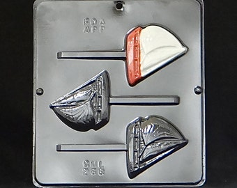 Sailboat Lollipop Chocolate Candy Mold 268