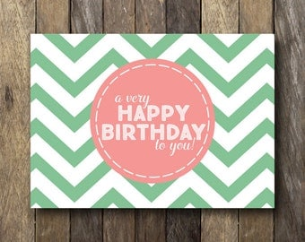 Printable Birthday Card - Happy Birthday Card - Instant Download Birthday Card - Birthday Card Printable