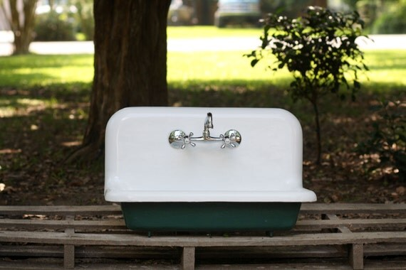 1948 refinished malachite green 30 farm sink wall by readytore. Black Bedroom Furniture Sets. Home Design Ideas