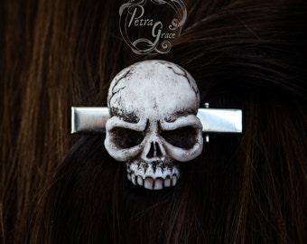 Original Realistic Skull Hair Clip