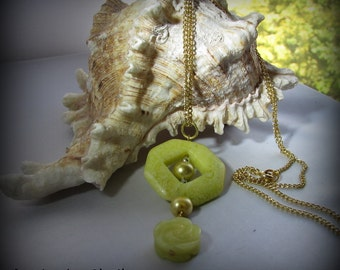 Gemstone Pendant - Lemon Custard
