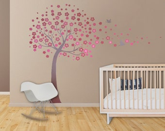 Kids Room Decor Wall Decals - Kids Wall Decal Cherry Blossom Decal Nursery Decor Nursery Art Baby Girl Baby Shower Children Playroom Decor