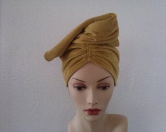 Glamorous high fashion turban style hat