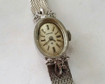 Vintage, Working, Hamilton, Wristwatch, Dial, Case, Band, Movement, Steampunk, Altered Art, Jewelry, Beading, Supplies