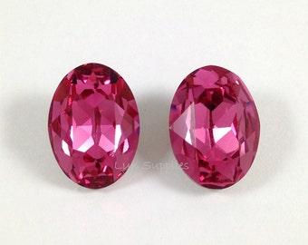 4120 ROSE 18x13mm Swarovski Crystal Oval Fancy Stone