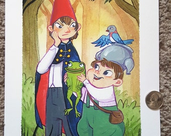 """8x10"""" Over the Garden Wall Wirt, Greg and Beatrice fine art print"""