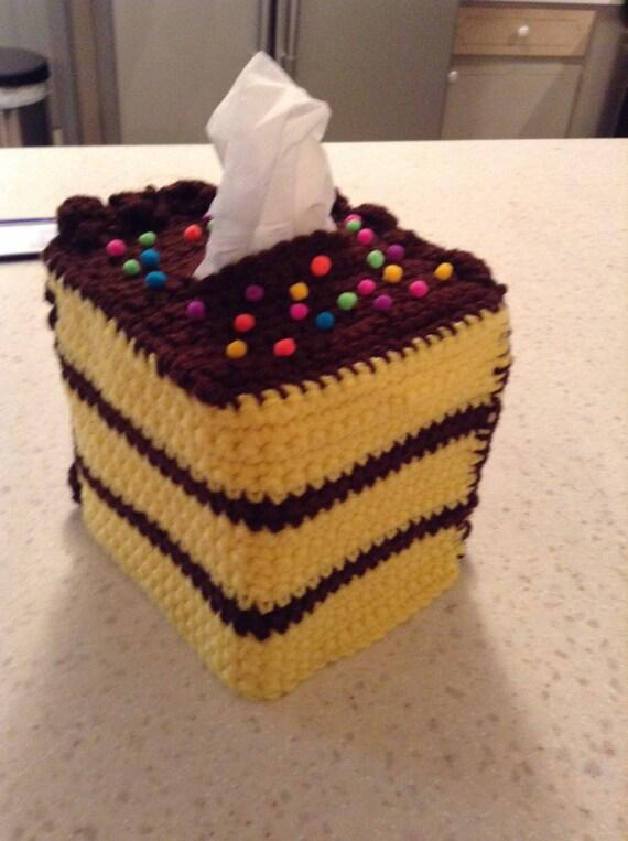 Crochet Tissue Box Cover Cake