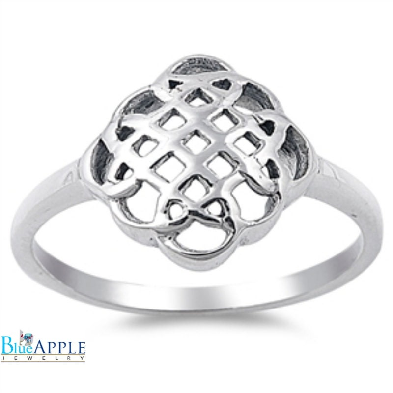 Simple Celtic Knot Wedding Engagement Anniversary Ring 925 ...