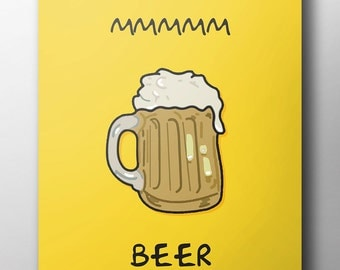 Mmmm Beer - Simpsons Poster