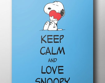 Peanuts Poster - 'Keep Calm & Love Snoopy'