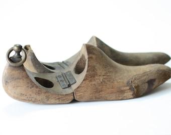 SALE Antique Wooden Shoe Forms Rare Vintage
