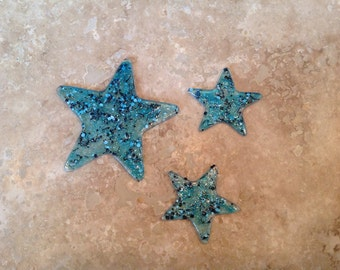 Handpainted acrylic star jewellery components set-FREE SHIPPING!!!