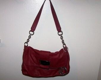 Vintage Soft Red Leather Liz Claiborne Purse REDUCED was 39.99