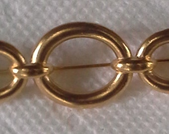 Vintage YSL signed gold-plated pin/brooch 5 oval links
