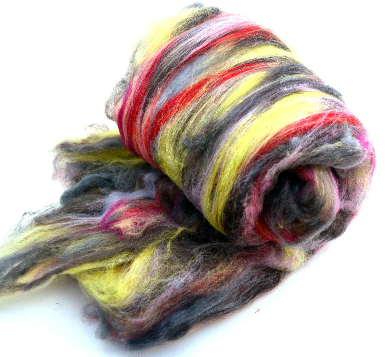 Fiber art batt wool fiber spinning batt felting batt hand for Fiber batt