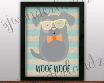 INSTANT DOWNLOAD PRINTABLE 'Woof Woof' sign