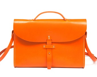 The orange briefcase