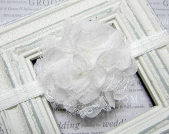 Off White Lace Flower Baby Girl,Girl Headband