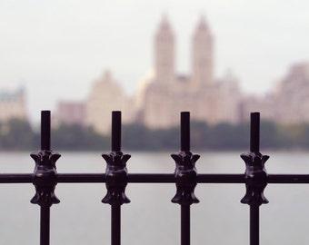 New York City photography, New York art print 12x18, NYC wall art, wrought iron art, Manhattan skyline Upper West Side wall decor picture