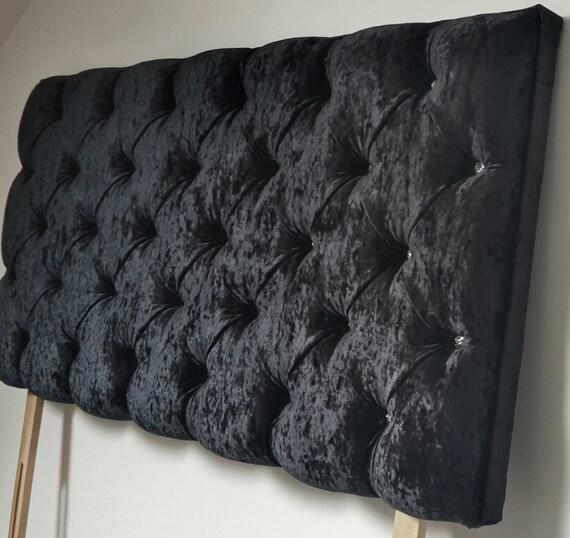 downham chesterfield black crushed velvet deep crystal, Headboard designs