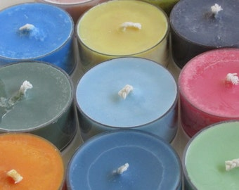 One Dozen Custom Scented Soy Tea Lights