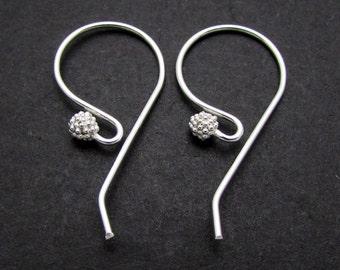 2 Pcs, Sterling Silver Ear Wire