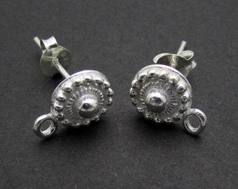 2 Pcs (1 Pair), Sterling Silver Ear Stud