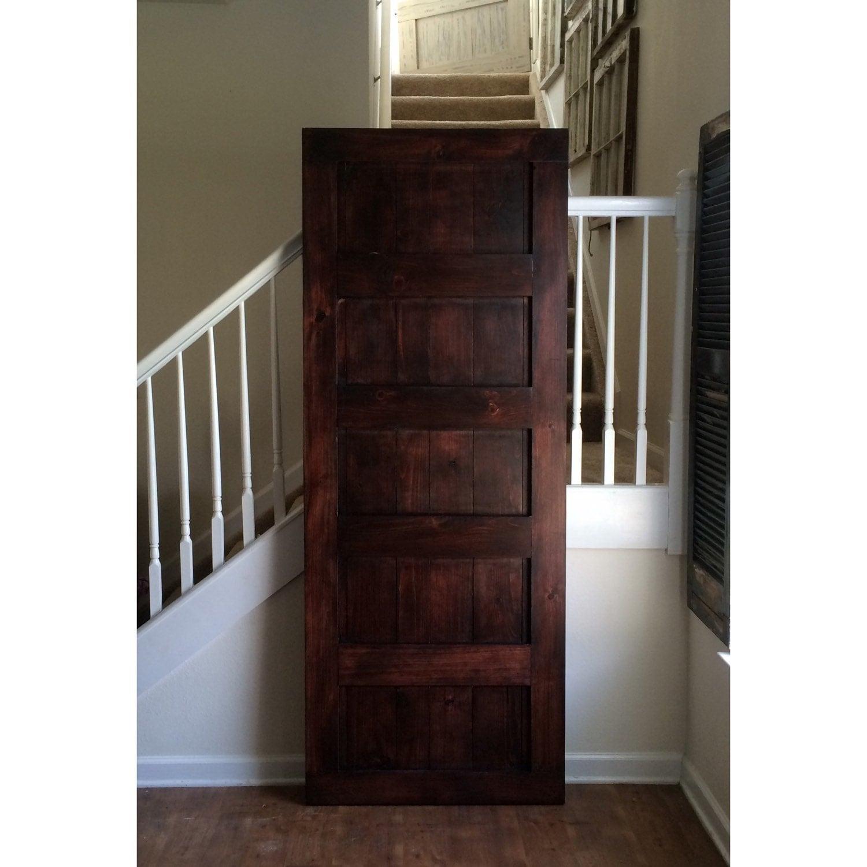 Custom made sliding barn door panel design red