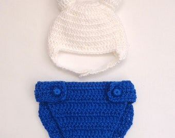 Finn / Fiona Costume Hat And Diaper Cover From Adventure Time - Newborn  Baby Hat Halloween / Cosplayn