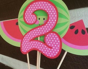 Watermelon birthday party centerpiece!!