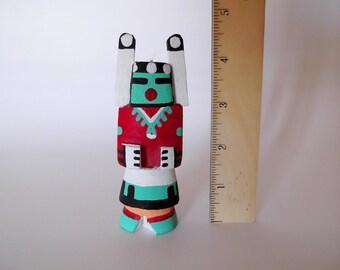 "Vintage Large Hopi Kachina Doll, 4.5"" Hunter Katsina, Route 66 Style, Native American, Southwestern Collectibles, Tihu dolls, ID 235761507"