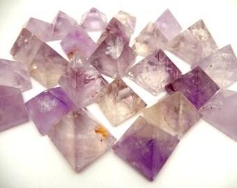 Amethyst Pyramid - Gemstone Pyramids By Piece High Quality Stones from Brazil  (RK19B4)