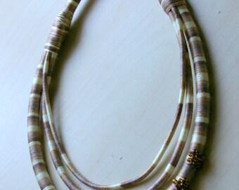Tribal Necklace, Wrap Necklace, African Necklace, Boho, Chic, Bohemian, Hippie, Fiber art