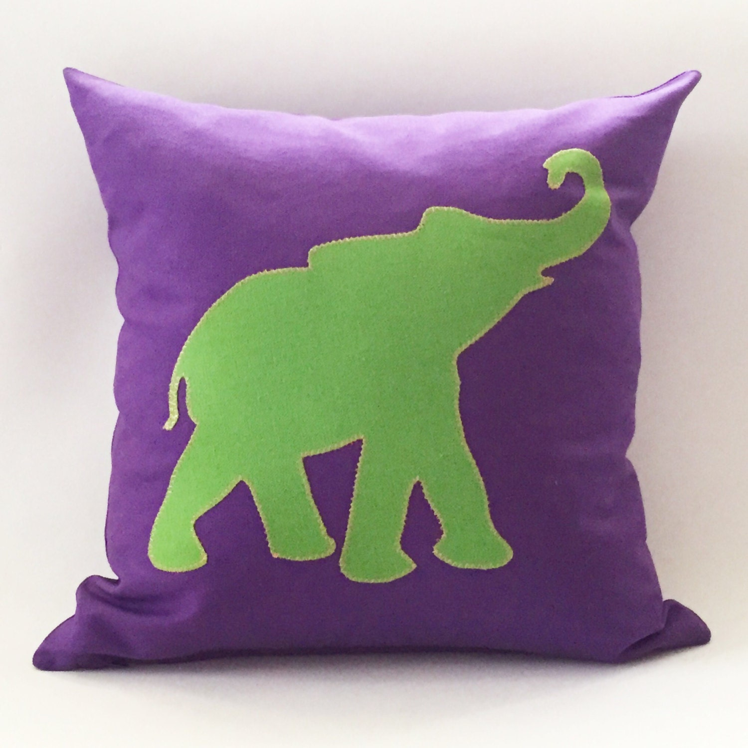 Custom Elephant Silhouette Pillow Cover. 16 18 & by SewSewSwell