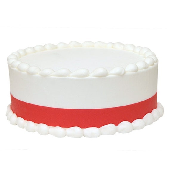 Cake Decorating Edible Ribbon : Red Icing Shimmer Ribbons Edible Image  Decoration by Lucks
