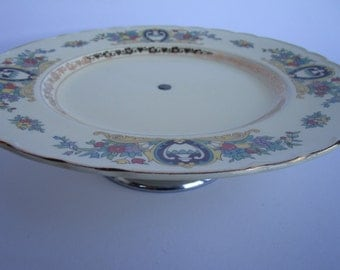 1930s cake plate with stand