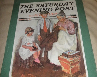 Litho Print The Saturday Evening Post by Sinclair Lewis 1972