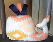 Whale Plush Toy, Whale Soft Toy, Arizona Artwork Sedona Aztec Whale, Great Baby Shower Gift, Modern Nautical Nursery