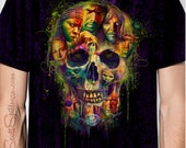 Walking Dead SKULL Crew Neck Tee ( Please order a size SMALLER than you wear )