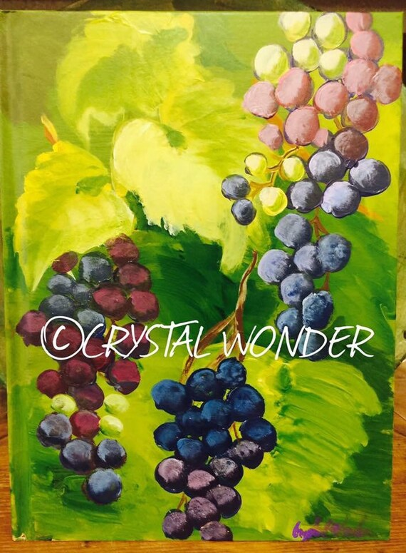 Hand-Painted Journal - Grape Vines