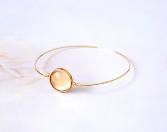 DIY 14mm Crystal clear glass with gold bracelet kit