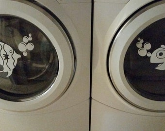 Washer & Dryer Fish Decals