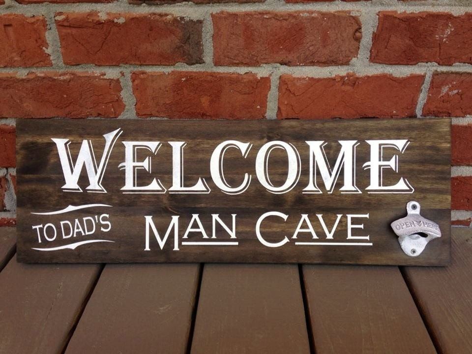 Man Cave Gifts For Him : Bar sign with bottle opener man cave gifts for him