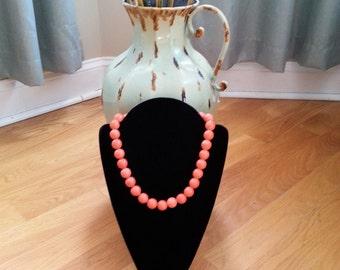 Fancy Ceramic Beaded Orange Necklace