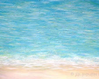At the Tip of Your Toes - Art print, 14 x 11, 10 x 8, coastal wall decor, beach art decor, ocean wall art, shoreline,  living room, office..