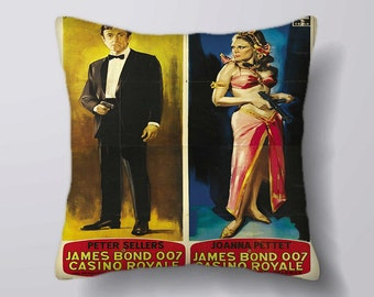 007 James Bond 007 Casino Royale - Cushion Fabric Panel Or Case or with Filling