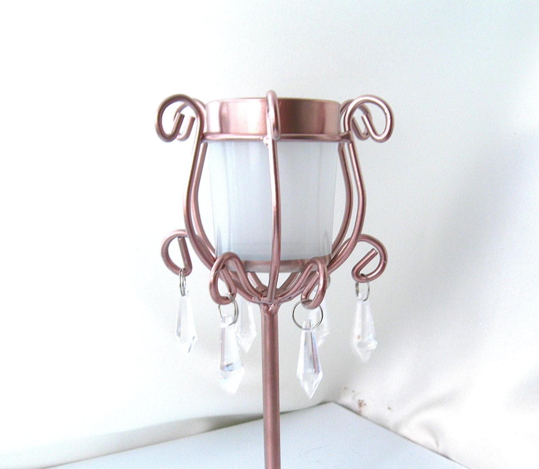 2 tall candle holders rose gold and white 2 votive holder rose. Black Bedroom Furniture Sets. Home Design Ideas
