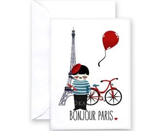 Card - Bonjour Paris!